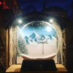 Abbey Hotel winter mural snow globe