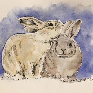 Bunnies print