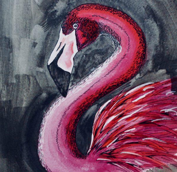 Flamingo scarf